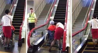 Έφτιαξαν κυλιόμενη σκάλα με ειδική λειτουργία για άτομα σε αναπηρικό αμαξίδιο