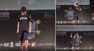 Αυτό το παιδάκι έφτασε στον τελικό του διπλού Γιο-Γιο στο Παγκόσμιο Πρωτάθλημα. (Βίντεο)