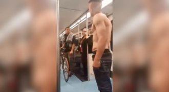 Ένας τοξικομανής ήθελε να δημιουργήσει ιστορίες στο μετρό αλλά βγήκε ΚΟ από ένα επιβάτη.