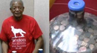Μάζευε κέρματα για 45 χρόνια! Όταν τα πήγε στην τράπεζα, αυτό που συνέβη τον άφησε άφωνο! (VIDEO)
