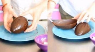 Φτιάξτε το δικό σας σοκολατένιο αυγό για το Πάσχα. Είναι αρκετά εύκολο! (Βίντεο)