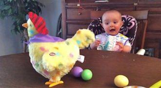 Αυτό το Αξιολάτρευτο Μωρό Σοκάρεται Όταν Μαθαίνει από που Βγαίνουν τα Αυγά