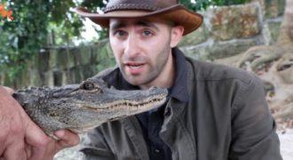 Αποφάσισε να δαγκωθεί από έναν αλιγάτορα για να καταδείξει τους κινδύνους του ζώου.