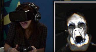 Παίζουν ένα παιχνίδι τρόμου με OCULUS RIFT με τις αντιδράσεις τους να είναι ξεκαρδιστικές.