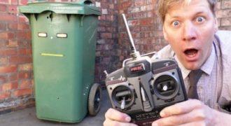 Μετέτρεψε έναν κάδο απορριμάτων σε τηλεκατευθυνόμενο και τρέλανε όλη την πόλη (Video)