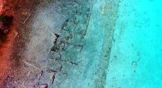 Μοναδικά εναέρια πλάνα από την βυθισμένη Αρχαία Ελληνική πόλη της Πορφύρας.