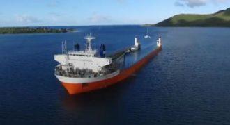 Ένα τεράστιο μεταφορικό πλοίο καταδύεται για να φορτώσει άλλα μικρότερα πλοία. (Βίντεο)