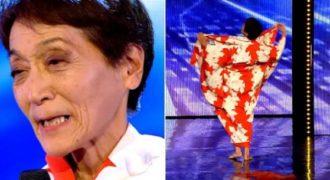 Στα 70 της γδύθηκε επί σκηνής … και εντυπωσίασε την κριτική επιτροπή του «Got Talent».
