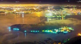 Η νύχτα στη λίμνη των Ιωαννίνων μέσα από ένα εκθαμβωτικό βίντεο.