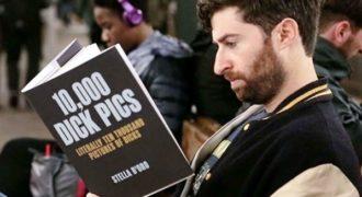 Διαβάζοντας βιβλία με εξωφρενικούς τίτλους στο μετρό!