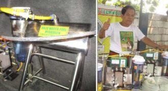 Άνδρας εφηύρε μια συσκευή που χρησιμοποιεί νερό για την μετακίνηση των οχημάτων.