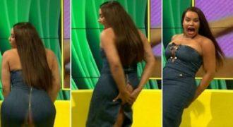 Πήγε να κάνει twerking και άνοιξε στα δύο το φόρεμά της ζωντανά στην τηλεόραση…