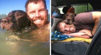 Μόλις ο σκύλος του διαγνώστηκε με καρκίνο των οστών, ο ιδιοκτήτης του τον πήγε στο τελευταίο επικό τους ταξίδι.