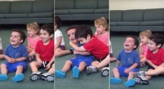 Ό,τι πιο όμορφο θα δεις σήμερα: Το τρίχρονο αγοράκι που δεν μπορεί να σταματήσει να γελάει! (VIDEO)