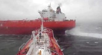 Ελληνικό δεξαμενόπλοιο αποφεύγει την σύγκρουση κυριολεκτικά την τελευταία στιγμή