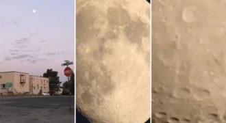 Κάμερα κάνει ζουμ μέχρι το φεγγάρι (Video)