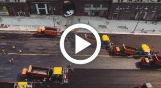 Στη Ρωσία έχουν τον τρόπο για να στρώνουν δρόμους σε χρόνο μηδέν (Βίντεο)
