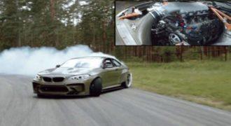Kι όμως προσαρμόσανε μηχανή ελικοπτέρου πάνω σε μία BMW. Το αποτέλεσμα απλά εκπληκτικό! (Video)