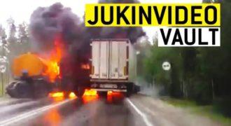 Τρελά και απρόσμενα στιγμιότυπα με φορτηγά που κόβουν την ανάσα