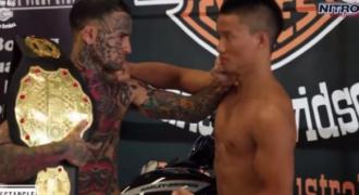 Νόμιζε ότι θα τον τρομάξει με τα τατουάζ του Έγινε «ΡΕΖΙΛΙ των ΣΚΥΛΙΩΝ»: Δείτε τι έπαθε μέσα σε 20 δευτερόλεπτα ο «ψευτόμαγκας» με τα τατουάζ! (Video)