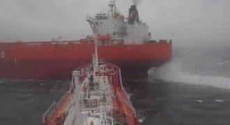 ΦΟΒΕΡΟΣ ΕΛΛΗΝΑΣ ΚΑΠΕΤΑΝΙΟΣ: Ελληνικό δεξαμενόπλοιο αποφεύγει την σύγκρουση κυριολεκτικά την τελευταία στιγμή στη μέση του Ατλαντικού [video]