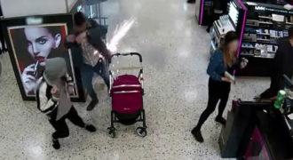 Η στιγμή που ηλεκτρονικό τσιγάρο εκρήγνυται στην τσέπη άνδρα δίπλα σε μωρό.