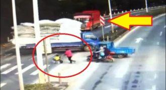 Φορτηγό παρέσυρε 3χρονο αγόρι στην Κίνα! Σώθηκε από θαύμα (Video)