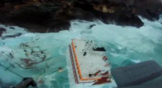 Παραλίγο Τραγωδία!Βυθίστηκε πλοίο πριν λίγο στην Άνδρο. Δείτε Το Σοκαριστικό βίντεο ντοκουμέντο!