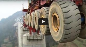 Δείτε το μηχάνημα που κατασκευάζει γέφυρες. Απίστευτο!