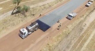 Παγκόσμιο viral το βίντεο με την κατασκευή δρόμου στην Αυστραλία (Video)