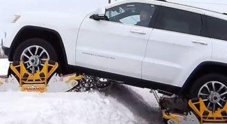Πατίνια με ερπύστριες για όλα τα οχήματα κάνουν την οδήγηση στο χιόνι παιχνιδάκι! (Video)