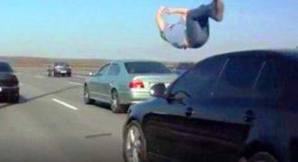 Φοβερό!! Επέζησε από το ατύχημα γιατί είχε εκπαίδευση Νίντζα! (Video)