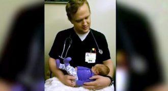 Ο Νοσοκόμος που «έριξε» το Διαδίκτυο! Δείτε ΤΙ κάνει μόλις παίρνει στην Αγκαλιά του ένα Νεογέννητο Μωρό και θα Μείνετε Άφωνοι!