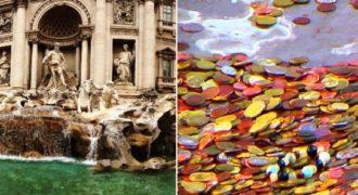 Έτσι μαζεύουν τα νομίσματα από τη Φοντάνα ντι Τρέβι (Fontana di Trevi)! (Βίντεο)