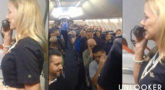 Aεροσυνοδός δίνει οδηγίες ασφάλειας και οι επιβάτες ξεσπούν σε γέλια – Ένα βίντεο με 1 εκατ. προβολές [video]