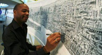 Καλλιτέχνης με αυτισμό ζωγραφίζει μια ολόκληρη πόλη από μνήμης