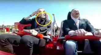 Τον Χτύπησε Πουλί στο Πρόσωπο την Ώρα που το Τρενάκι της Ferrari Land ήταν σε κίνηση! (Video)