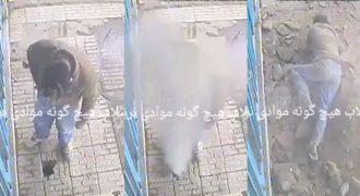 Άνδρας πετάει το Αναμμένο Αποτσίγαρο μέσα σε Σωλήνα και Ανατινάζεται …
