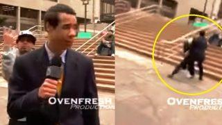 Έκανε επαννειλημένα άσεμνες χειρονομίες στα πλάνα και έφαγε της χρονιάς του!! (Video)