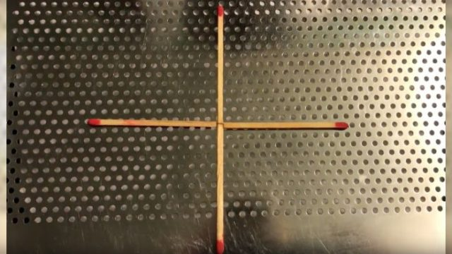 Μπορείς να μετατρέψεις τον σταυρό σε τετράγωνο μετακινώντας μόνο 1 σπίρτο;