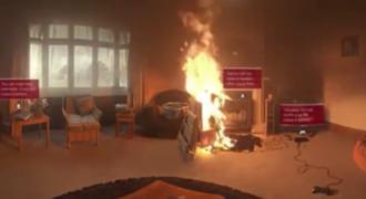 Προσομοιωτής δείχνει πώς καταστρέφεται ένα δωμάτιο από φωτιά μέσα σε μόλις 1 λεπτό