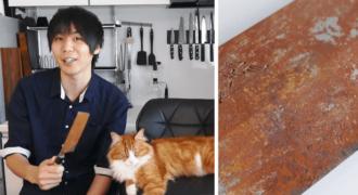 Βίντεο με άνδρα που γυαλίζει μαχαίρι γίνεται νούμερο ένα στο YouTube