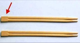 Όταν μάθετε ποιος είναι ο λόγος ύπαρξης του πάνω μέρους από τα κινέζικα ξυλάκια Θα κουφαθείτε..