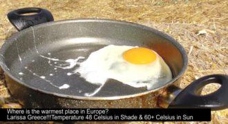 Τηγάνισαν αυγά στους 60 βαθμούς υπό τον ήλιο στην Λάρισα