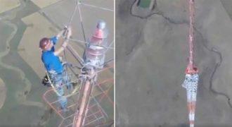 Άντρας αλλάζει μια λάμπα μισό χιλιόμετρο από τη γη και παίρνει 20.000 δολάρια μισθό