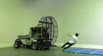 Τι συμβαίνει όταν τα βάζεις με έναν γιγάντιο ανεμιστήρα (Video)